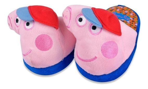 Pantufla Peppa Pig Para Niña Color Rosa Tipo 3d