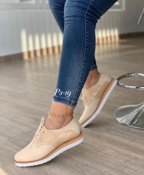 Zapato Casual Brillante Para Dama Moda Colombiana