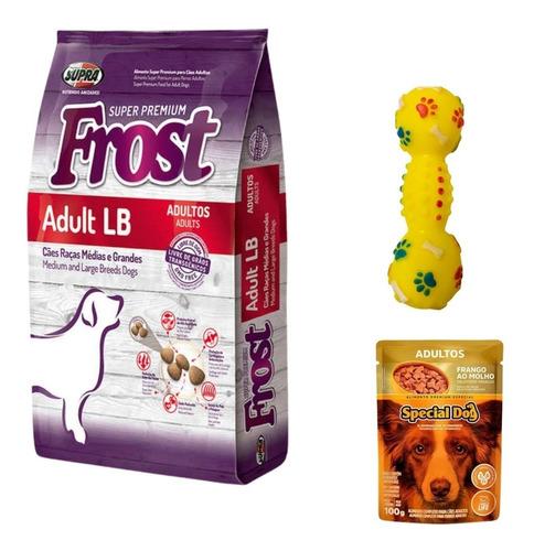 Imagen 1 de 2 de Frost Adulto Lb 17 Kg + Juguete + Sobrecito + Envío Gratis!