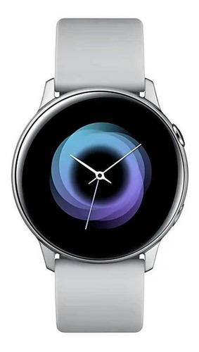 """Samsung Galaxy Watch Active (Bluetooth) 1.1"""" caja 40mm de  aluminio malla de fluoroelastómero y bisel  silver SM-R500"""