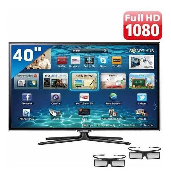 Tv Fullhd 3d Samsung 40 Es6500 + 2 Óculos