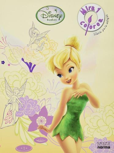 Imagen 1 de 3 de Disney Hadas Mira Y Colorea Libro Para Colgar Laura Gomez