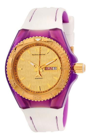 Relógio Feminino Technomarine 113036 Pulseira De Silicone