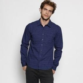 Camisa Fido Dido Com Gola Esporte . - Azul Escuro