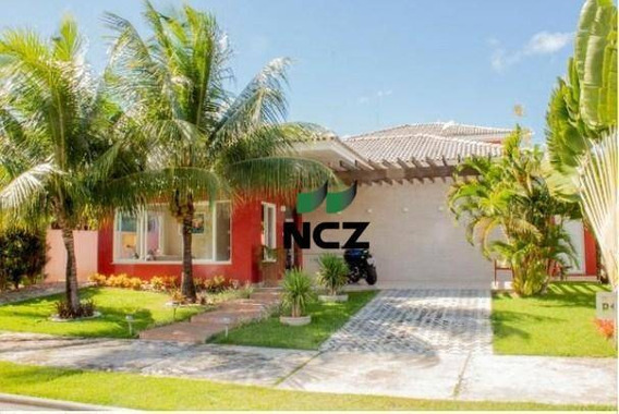 Casa Com 3 Dormitórios À Venda, 250 M² Por R$ 1.100.000,00 - Alphaville Litoral Norte 1 - Camaçari/ba - Ca2909