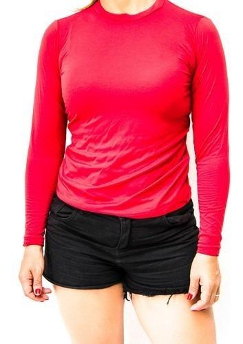 Camisa Feminina Com Fator De Proteção Uv 50+ Envio Já