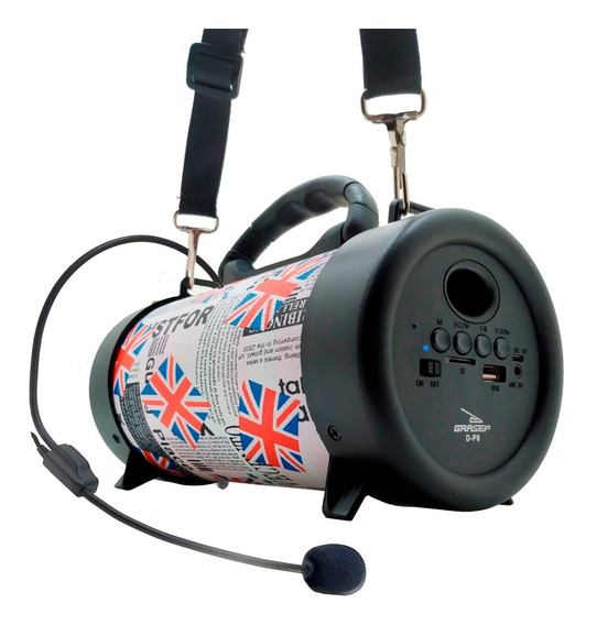 Caixa Som Amplificada Bluetooth Portátil Mp3 Rádio Fm Usb P2
