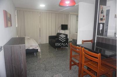 Flat Com 1 Quarto À Venda, Locação, 47 M², Mobiliado- Meireles - Fortaleza/ce - Fl0044