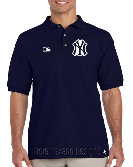 Playera Polo Yankees Nueva York Mod. 02 Tigre Texano Designs