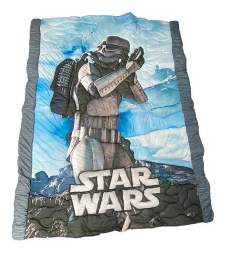 Cubrelecho Star Wars  Niños 240cm X 150cm Cojín Y Almohada