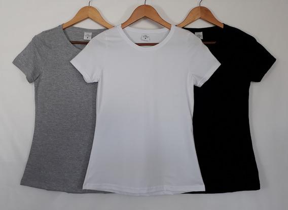 Kit Com 06 Peças Camisetas T-shirt Blusa Feminina