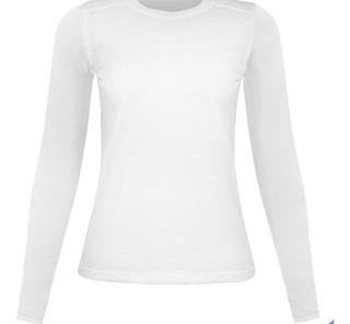 Camiseta Térmica Feminina Segunda Pele Longa Praia Uv