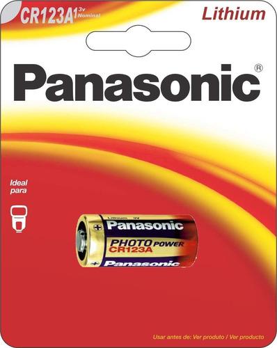Imagem 1 de 6 de 01 Pilha Cr123a 3v Lithium Panasonic- 01 Cartela Com 1 Unid.