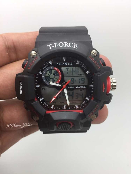 Relógio Masculino Atlantis Sports T Force G5517 Vermelho