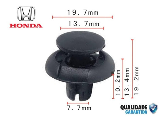 20 Presilha Grampo Para-barro Honda Civic Crv Fit City Hrv