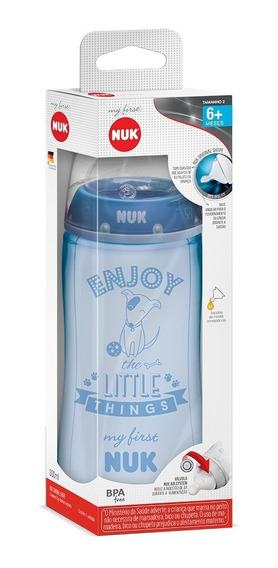 Mamadeira Nuk My First 300ml (azul)