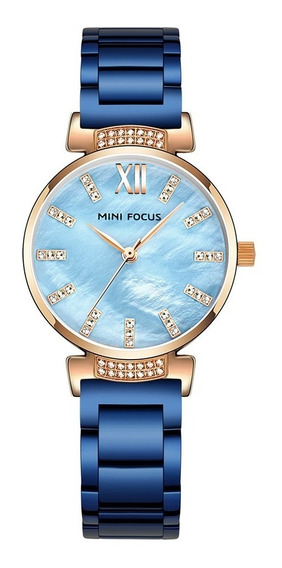 Mini Focus Mf0227l Quartz Relógios De Pulso Ouro