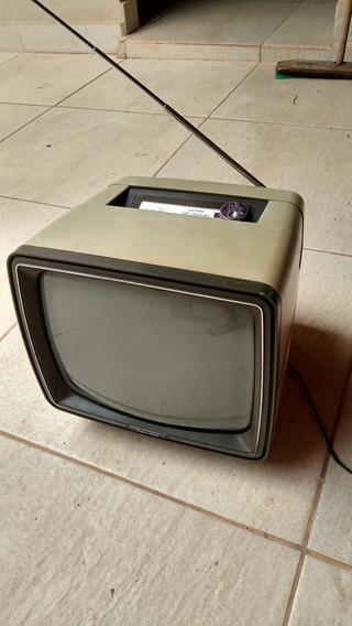 Tv Retro Preto E Branco Usada