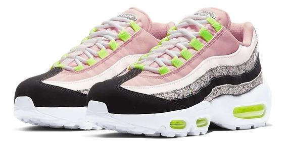 Tênis Nike Air Max 95 Pink Glitter Premium