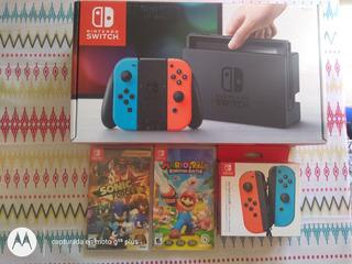 Nintendo Swicht + 2 Juegos + 2 Joy Con