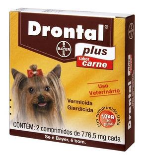 Vermífugo Drontal Plus Carne - Cães10kg - 2 Comprimidos