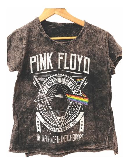 Remera Estampada Pink Floyd Mujer The Dark Side Palermo