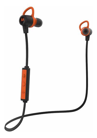 Fone De Ouvido Motorola Verveloop Bluetooth Preto/laranja