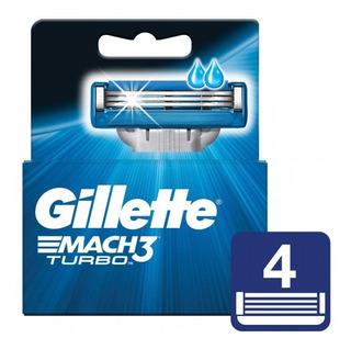Gillette Mach3 Turbo Repuesto Caja X4 U.im