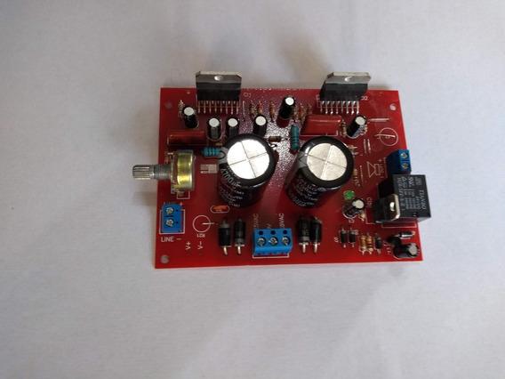 Placa Amplificador 200w Rms Tda7294 Sem Dissipador