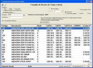 Programa De Computacion Para Control De Stock Y Facturacion