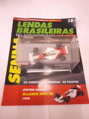 Imagem 1 de 2 de Lendas Brasileiras Ed. 12 Ayrton Senna Mc Laren Mp4/ Sb/1990