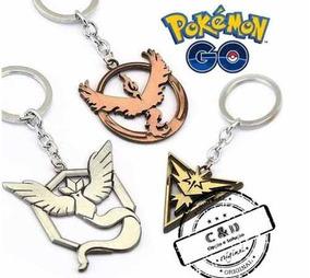 Kit Chaveiro Pokemon Go Instinct, Mystic E Valor Kit 2 Peças