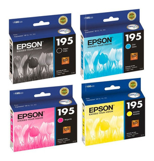 Combo Epson 195 Original Negro + 3 Color Xp201 211 204