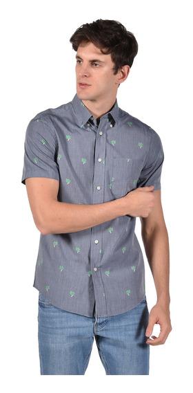 Camisa Classic Fit Chaps Azul 750699568-30uf Hombre