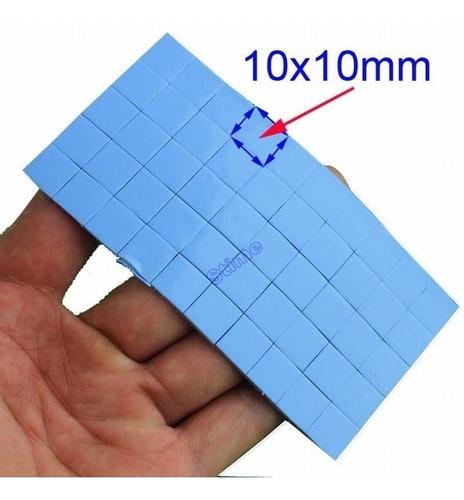 50pcs Blue Thermal Pad 10x10x1mm 1mm