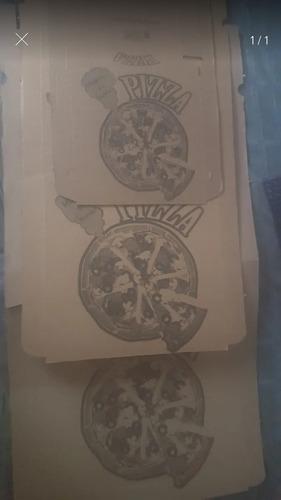 Caja De Pizza Corrugada  Pequeña Mediana Familiar Corrugada
