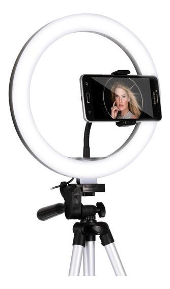 Iluminador Ring Light Anel Luz Led 26cm Selfie Profissional