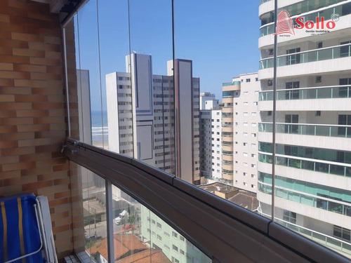 Apartamento 91m² Com 3 Dormitórios Venda - Tupi - Praia Grande/sp - Ap0342