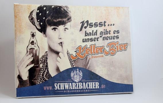 Quadro Cerveja Impressão Em Canvas 30x40