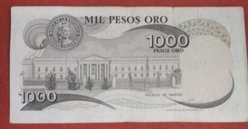 Imagen 1 de 1 de Billete Colombiano Antiguo De 1000 Pesos Galán