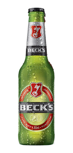 Kit Com 12 Unid Cerveja Becks 330ml Long Neck Pure Malt