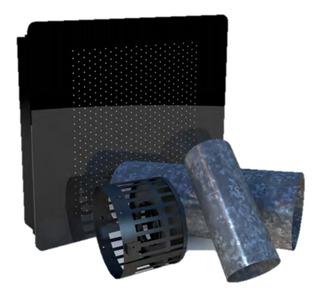 Estufa Calefactor Tiro Balanceado 4000 Kcal Con Frente De Vidrio Templado Super Oferta