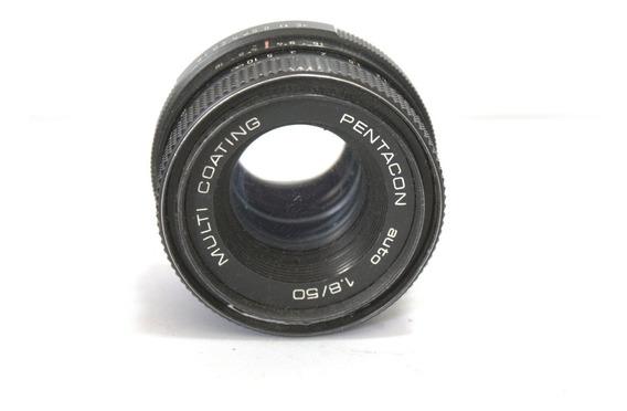 Lente Pentacon 50mm 1.8 Sucata Retirada Peças Retro Coleção