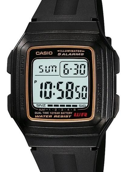 Relógio Masculino Digital Casio F-201wa-9adf - Preto + Nf