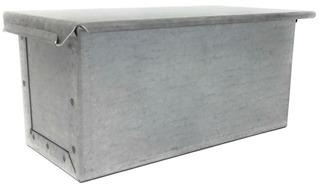 Molde Pan Lactal Miga 30x10x10 Cm Con Tapa Chapa Aluminizada