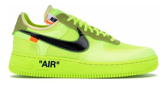 Sneakers Originales Nike Air Force 1 Low Off White Volt