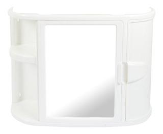Organizador Baño Con Espejo Rimax - Blanco