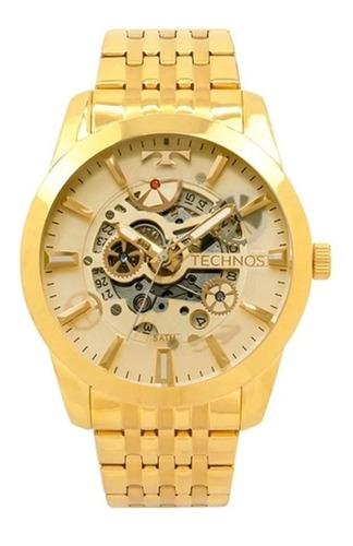 Relógio Technos Automático Dourado Promoção 8205nq/4x Nfe