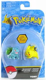 Pokemon Bulbasaur Vs Pikachu Figura 2-pack Por Tomy