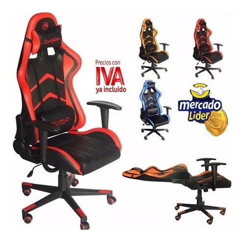 Silla Gamer Reclinable Marvo Ch106 Ergonómica Incluye Iva